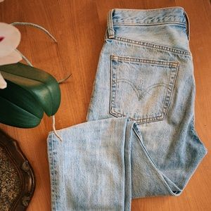 LEVI'S 501 high rise jeans, size 28